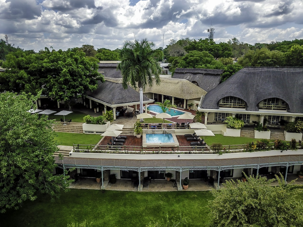 Ilala Lodge Hotel - new pool and lounge - aerial-min